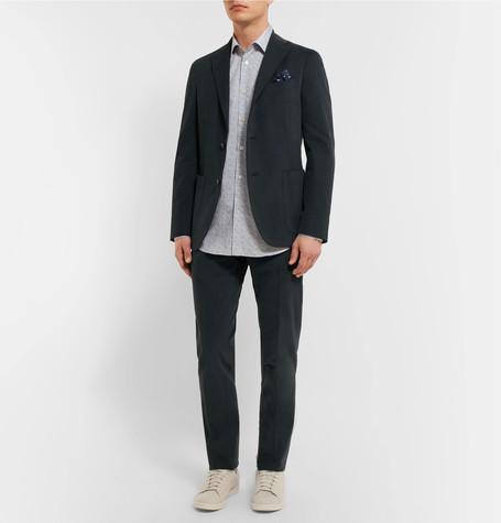Beige Stretch Cotton And Linen-blend Suit Trousers - SandBoglioli Meilleur Endroit Coût De La Vente Pas Cher ScYtjRx
