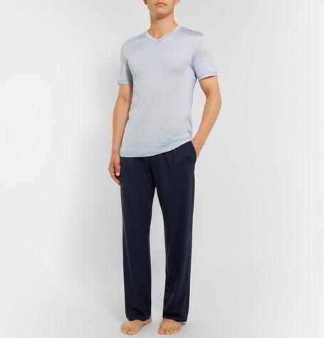 Derek Rose Basel Stretch-Micro Modal Jersey Pyjama Trousers