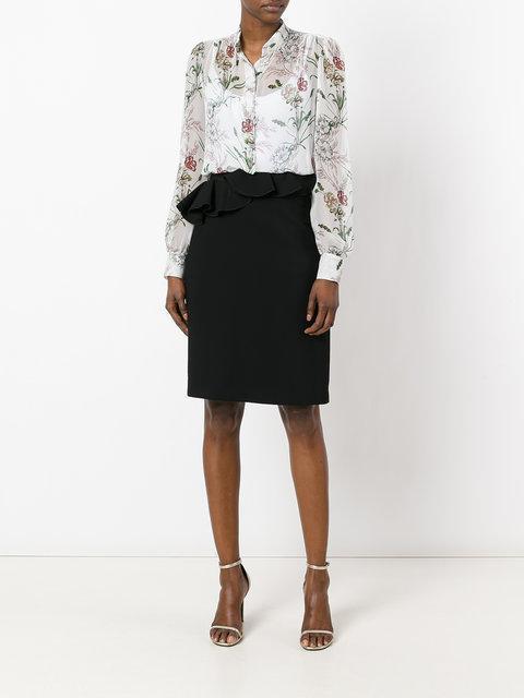 GIAMBATTISTA VALLI Ruffle Front Skirt