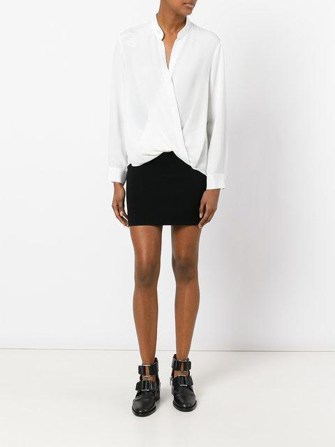 3.1 PHILLIP LIM White Silk Wrap Blouse