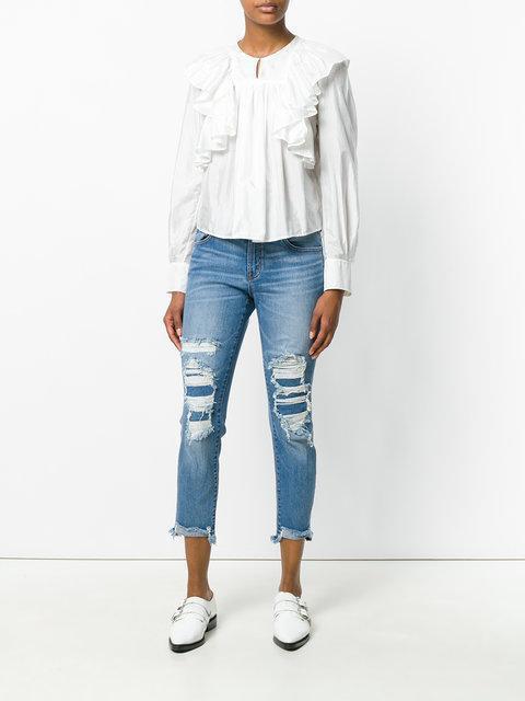 J BRAND Jbrand Selena Sadey Slim Straight Jeans, Blue