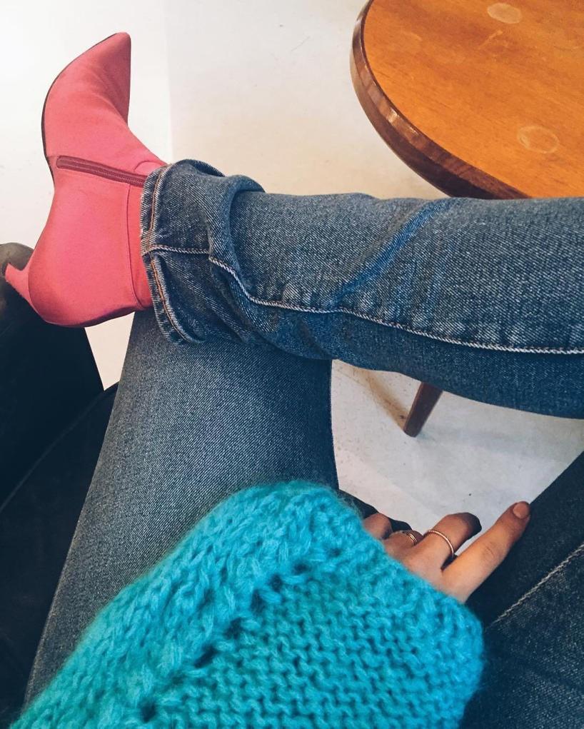 BALENCIAGA Slant-Heel Satin Ankle Boot