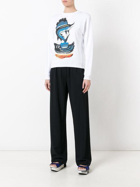 J.W.ANDERSON J.W. Anderson Sweatshirt With Marlin In White.