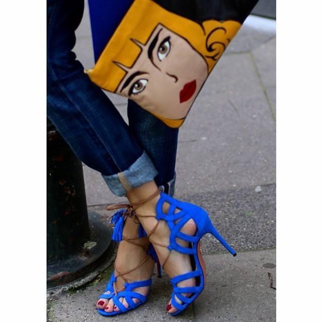 AQUAZZURA Mirage Lace-Up Suede Sandals