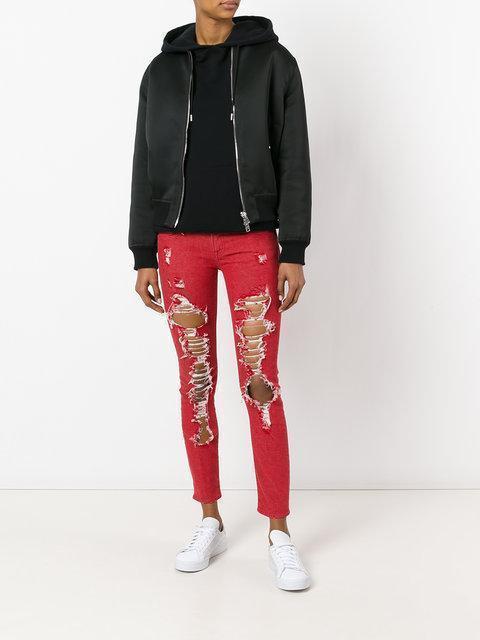 R13 Kate Skinny Jeans, Red
